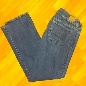 """AEO """"straight"""" fit dark wash jeans"""
